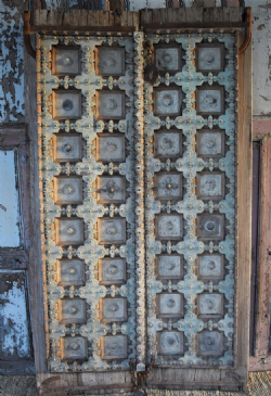 18th Century Doors in Teak with fine brass detailing from Southern Rajasthan <b>SOLD <b>